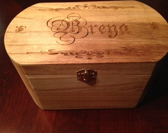 Memory Box Oval - Laser Engraved