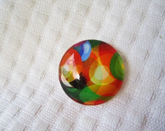 Glass cabochon for beading and wirewrapping 25mm round cabochon