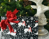 Black and White Reindeer Christmas Wrapping Paper, Eco-friendly, 2 Feet x 10 Feet