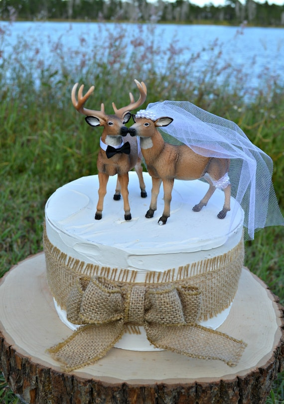 buck and doe wedding cake toppers doe and buck cake topper deer wedding cake topper 12203