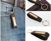 GPS Leather Key Chain for Men / Personalized Mens Gift / Latitude Longitude Keychain / Husband anniversary gift / Boyfriend Gifts
