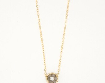 6888 - gold filled and semiprecious stone necklace
