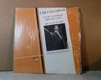 Vintage Vinyl LP Record Cab Calloway Club Zanzibar Broadcasts Unique Jazz 006 Mono July 8 and 10 1945 Excellent Condition DanpickedMinerals