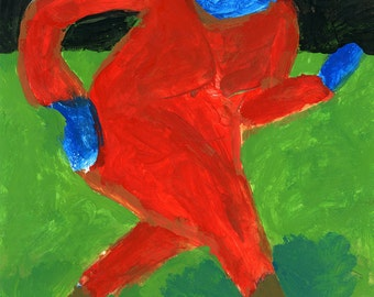 Original Painting - 'Dream Figure in Red' by Peter Mack
