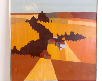 Large Abstract Painting by Herbst