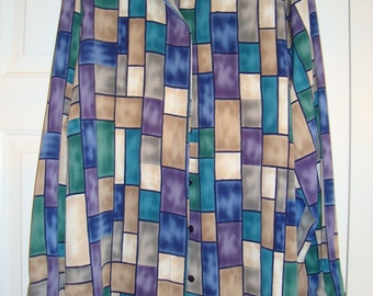 Vintage Alfred Dunner Women's Blouse, 1980's, Size 20