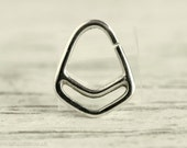 Septum Piercing Nose Ring Body Jewelry Sterling Silver Bohemian Fashion Indian Style 16g 14g - SE011R SS G1