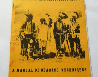 Four Winds, Indian Beadwork & Old Flathead Photos, A Manual of Beading Techniques, 1971, Preston Miller