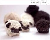 pug crochet pattern - amigurumi dog pattern