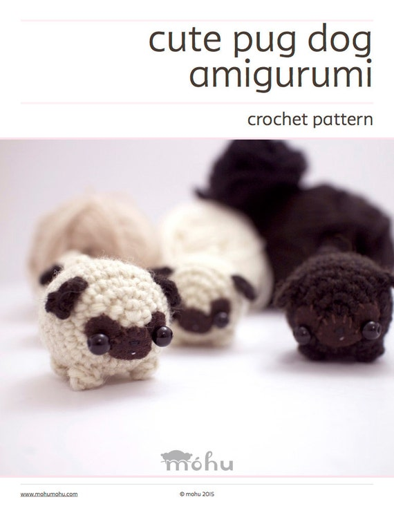 amigurumi pug crochet pattern amigurumi dog pattern