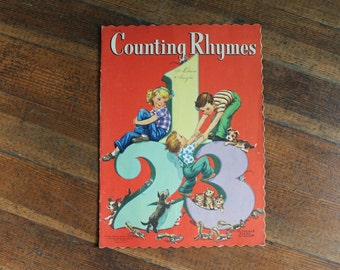 Vintage Children's Book - Counting Rhymes (Florence Sarah Winship - 1949)