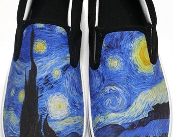 Custom Vans Starry Night Canvas Shoes