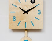 Modern Cuckoo Clock with moving bird - Quadri