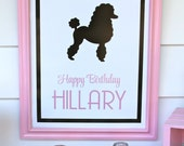 Pink Poodle Party BIRTHDAY SIGN : By Bloom Designs