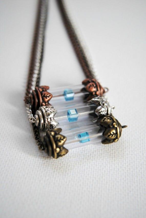 Tesseract Necklace -- The Avengers Inspired - LOKI - Unlimited Power - Swarovski Crystal -- Avengers
