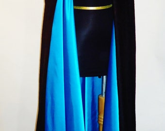 Suede and Satin Formal Cape