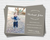 Adoption Announcement - 5x7 - Officially ours - Worth the wait - Photo Announcement - Boy Girl - Digital Printable File - Cardstock - Print
