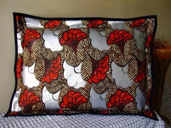 Travel Decorative Pillow Red & Silver Lotus fleece back