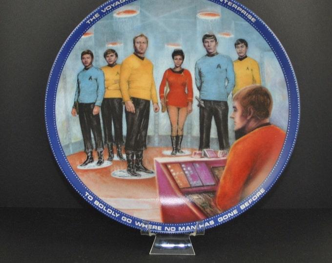 Vintage 1983 Beam Us Down Scotty Plate 1645 K - Hamilton Collection - Susie Morton - Limited Edition - Ernst - Star Trek