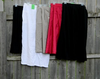 Lot of Vintage Skirts / Five Skirts from the 1960s-1980s / Midi Skirts / Pleated Skirts / Vintage Clothing Lot