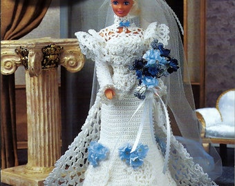 Society Bride Fashion Doll  Crochet Pattern  Annies Attic 870219