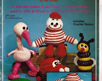Crochet Puzzlements Puzzle toys for  Crochet  Pattern Book Craft Publications 7322