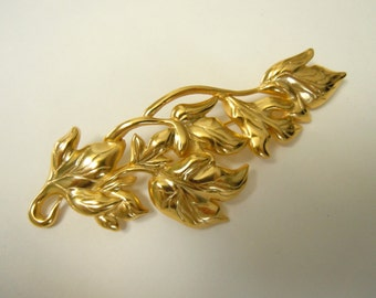 Cascading Leaves Brooch
