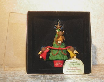 "Hallmark ""Twirl About Angels""  Ornament 1978 In Original Box ~ Tree Trimmer Collection Dated Ornament  Gift Tag Intact  HIGHLY Collectible"