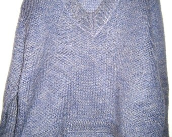 Vintage Blairmoor Original wool and mohair knit sweater 50s v neck pull over jumper