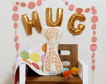 Gabbie Giraffe stuffed animal softie eco friendly baby children baby nursery home decor gift