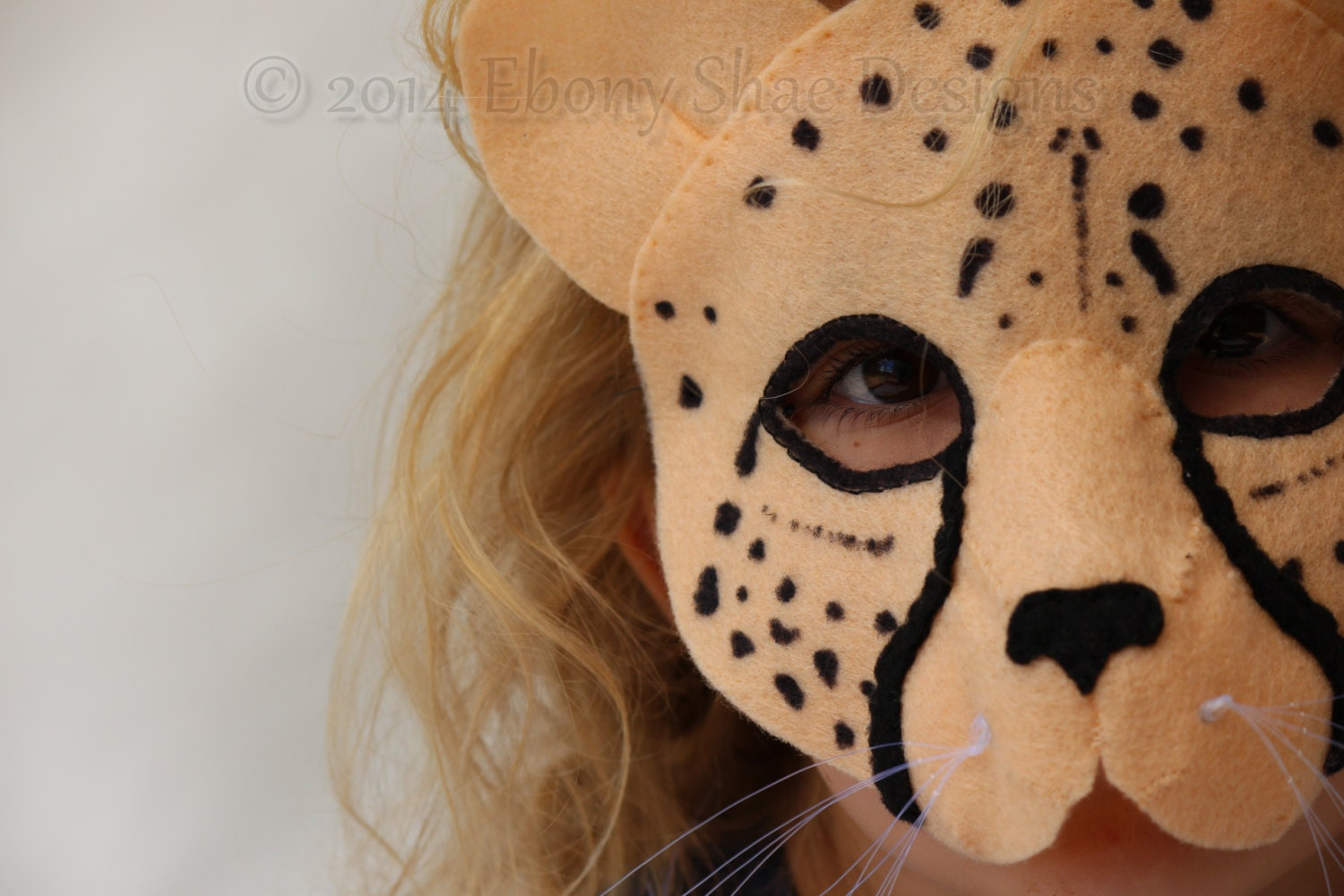 Felt cheetah mask pattern pdf instant download by ebonyshae for Cheetah face mask template