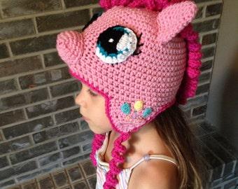 Pinkie Pie, My Little Pony, crochet hat **PATTERN ONLY**