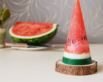 Watermelon Candle - Fake Fruit Candle - Party Kids Birthday Candle - Funny Scented Watermelon Candle - Tropical Candle - Hygge Home Decor