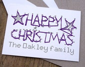 personalised christmas card - dot to dot