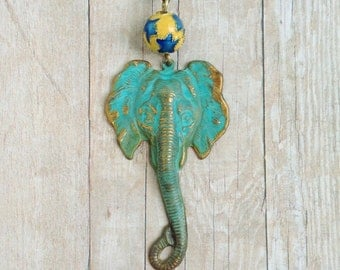 Elephant Necklace Circus Carnival Jewelry