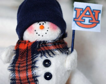 Auburn University Snowman Ornament