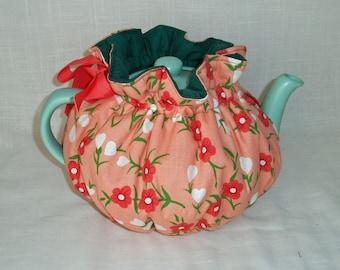 Pretty Petunias Snuggie Tea Cozy, Reversible