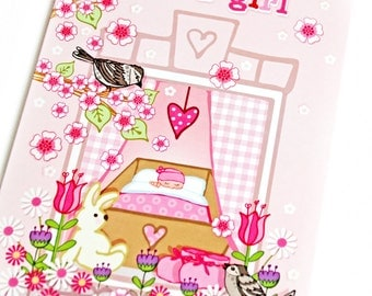 It's A Girl - New Baby Card