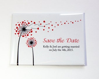 Wedding Save the Date, Save the Date, Save the Date Magnet, getting married,  Magnet, Engagement, Custom, Personalized, Hearts (4593)
