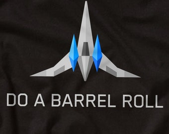 STARFOX Do a Barrel Roll - Nintendo 64 T-Shirt - Star Fox Arwing Peppy SNES N64 - Gaming Video Game Videogame