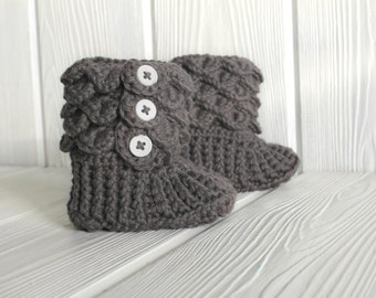 Toddler Slippers, Children's Crochet Slipper Boots, Made to Order