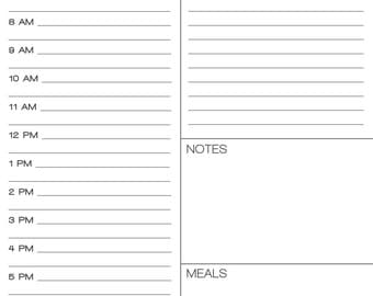 Day Planner Printable for Daily Planning