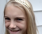 Leaf Headband gold plated