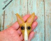 Greyhound Pin, Needle Felted Italian Greyhound, Whippet Jewerly, Greyhound gifts, Handmade Greyhound