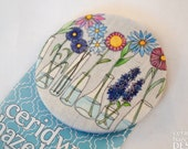 Flower Vases Fabric Badge Large Badge Pin Badge Fabric Covered Button Mothers Day Gift