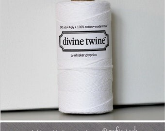 White - Solid - Divine Twine - 20 yards