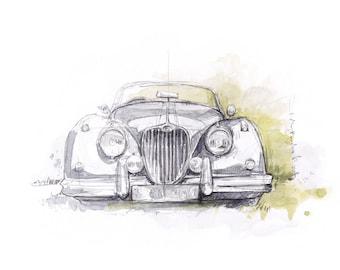 Jaguar XK150 - Limited edition Print
