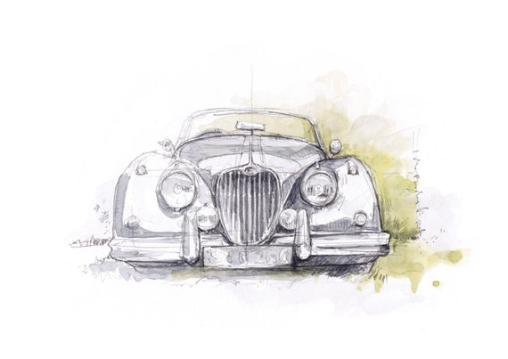 Jaguar XK150 - Limited edition Print