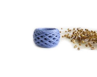 Linen yarn, linen thread, linen natural 3ply yarn, Lithuanian linen, blue