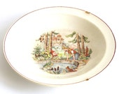 children's plate from the 50s
